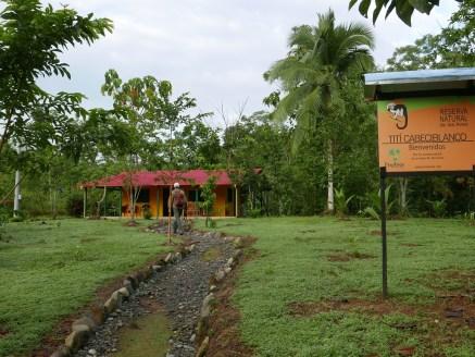 The lodge at the Cottontop Tamarin Reserve
