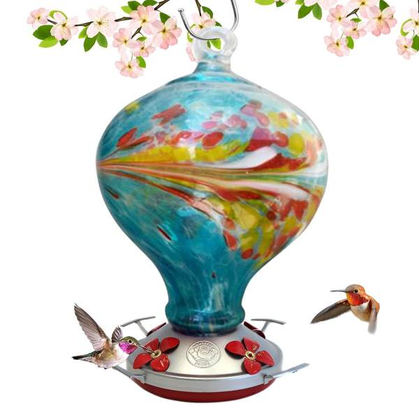 grateful gnome blown glass feeder