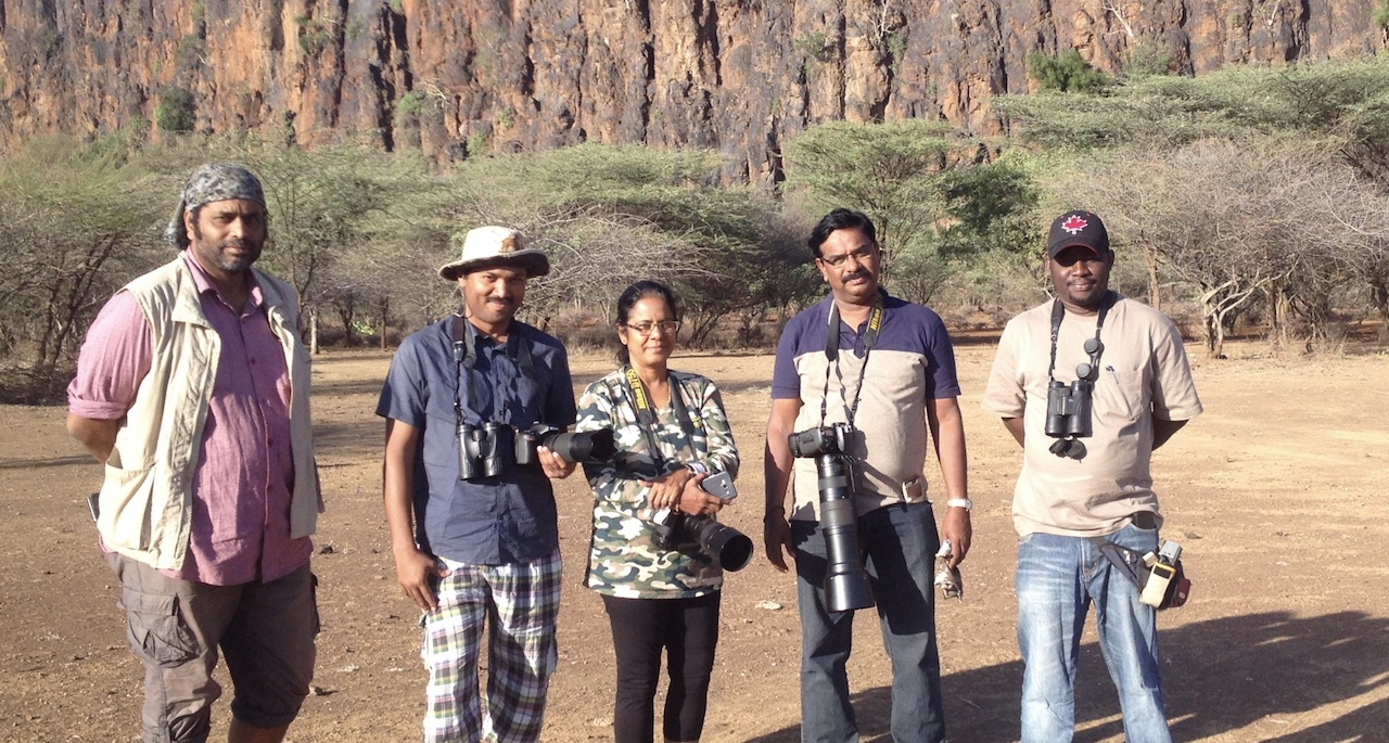 A INDIAN BIRDERS IN THE 2016, WHO DID A 10-DAY TRIP SUCCESFULLY, AMONGST THEM A PROMINENT PHOTOGRAPHER, SHAH JAHAN. MORE CAN BE READ IN https://burding.wordpress.com/2017/05/29/kenya-dec-2016-species-list/