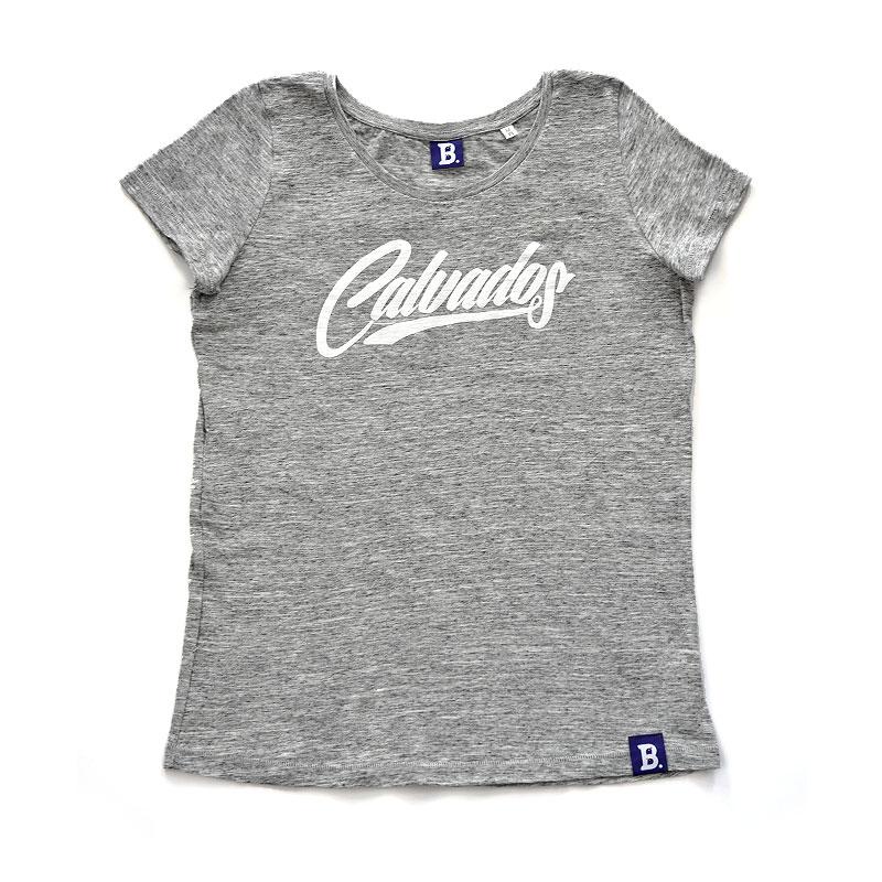 T-Shirt Calvados Gris Chiné - Femme