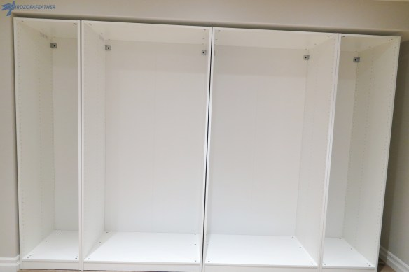 """Using the Ikea Pax system as storage in my craft studio is a case of """"If You Build It, She Will Come!!Learn how to maximize storage with Pax wardrobes! Birdz of a Feather 