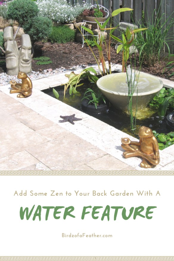 A backyard pond DIY is the ultimate in tranquility. We've got two versions of this water feature diy to totally transform your garden space. Birdz of a Feather | outdoor water feature diy | water feature diy | backyard water feature diy | water feature diy ideas | garden water feature diy | pond diy | zen water feature | outdoor zen water feature | diy zen water feature | pond ideas | ponds backyard | pond landscaping | pond | water features in the garden | water features in the garden small | water features in the garden diy | outdoor water features | how to build a pond