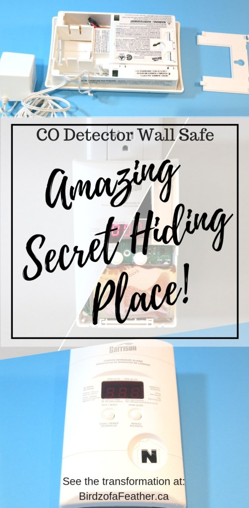 Amazing secret hiding place. How to hide things using an upcycled CO detector. Hide money, jewelry and valuables. Hidden in plain sight | Birdz of a Feather | hiding places in the house | hiding places for money | hiding places secret | hiding places DIY | hiding places in the house ideas | hiding paces for money DIY | hiding places for money awesome | birdzofafeather.ca #secrets #hiddenstorage #hideaway #hiddeninplainsight #security