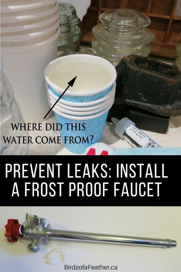 Water leak repair is something we all hope will never be on the to-do list. We're showing you how to tackle a burst pipe by installing a frost proof faucet.