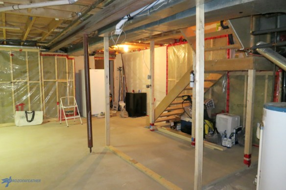 A level basement floor is a priority when it's is too uneven to reno. We explain the professional process of how to level a basement floor with Levelrock. Birdz of a Feather | level basement floor | level basement floor concrete | level basement flooring | basement remodel | basement ideas | basement makeover | basement renovations