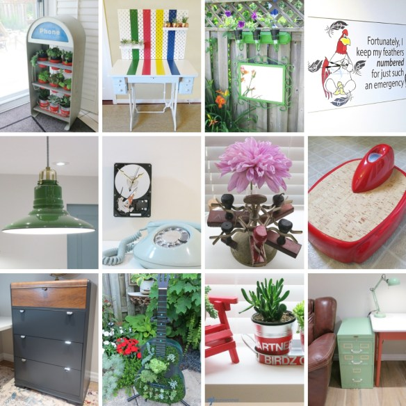 The best upcycles from Birdz of a Feather in 2018 | upcycle | repurpose | painted furniture |vintage furniture makeover | stamp holder | phone booth vintage | retro scale | waterfall dresser | hard drive clock | filing cabinet | singer sewing table | planters | planters diy | guitar ideas diy | hudsons bay point stripe | best of 2018 diy | milk paint | best of 2018 | birdzofafeather.ca