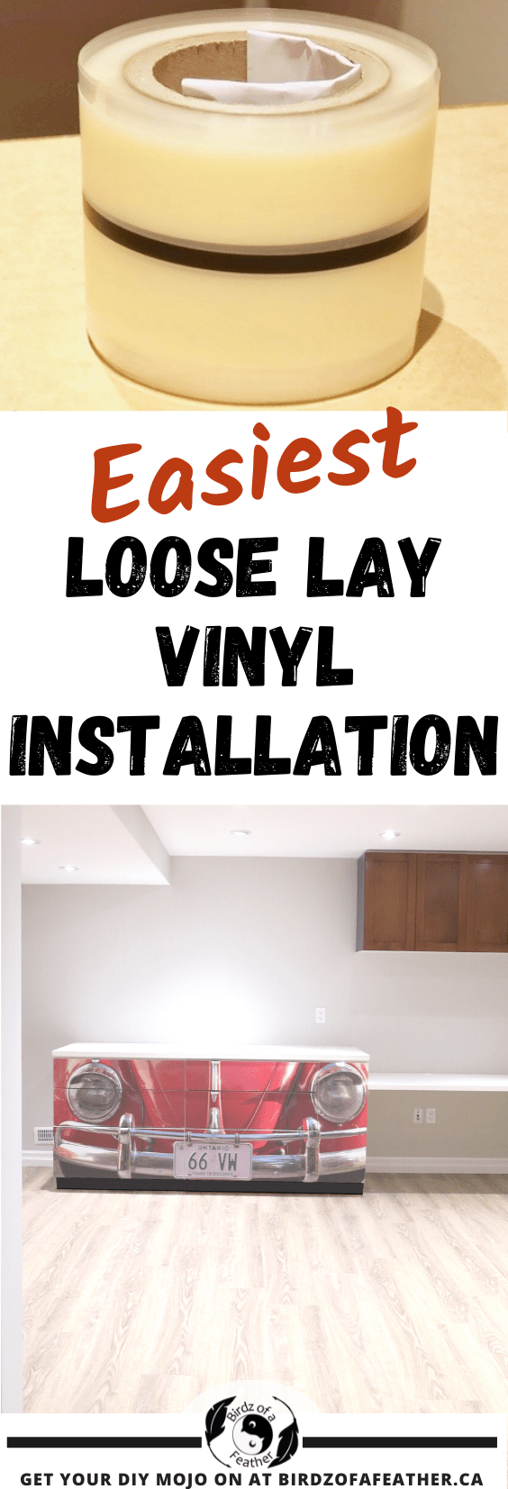Today we're giving you the ultimate guide on our loose lay vinyl plank flooring installation. You learn the ins and out of installing loose lay vinyl plank; it's the easiest flooring that any DIYer can install!