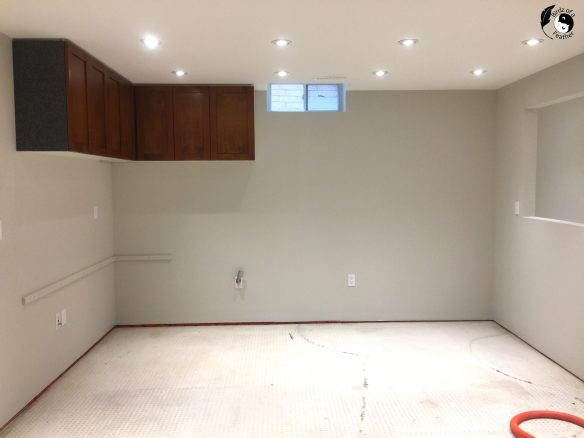 Clear the room before installing loose lay vinyl planks