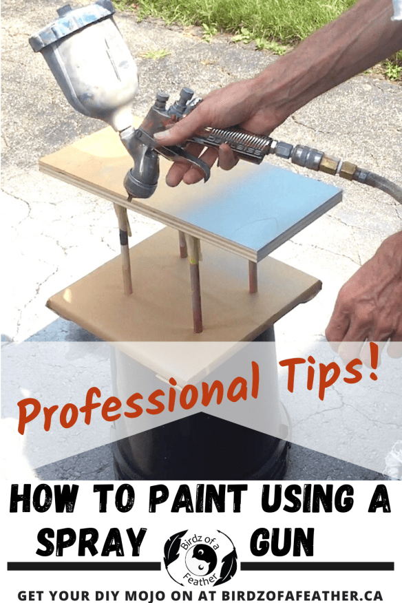 Pinnable image on How to Paint Using a Spray Gun
