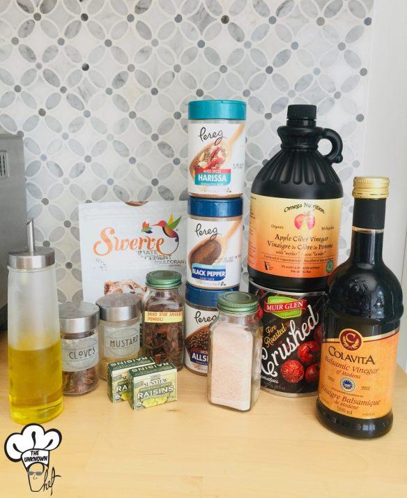 Ingredients for sugar free ketchup recipe