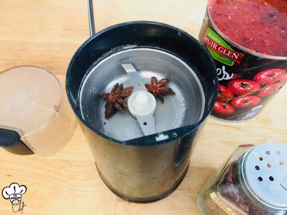 Star anise is best freshly ground in a coffee grinder for sugar free ketchup recipe