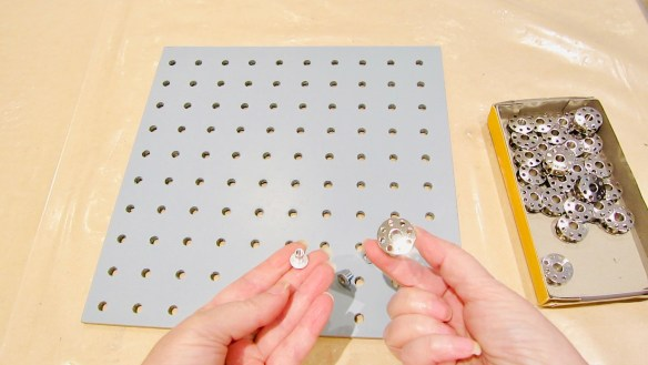 Use Chigaco screws and bobbins as you hangers for the DIY jewelry display