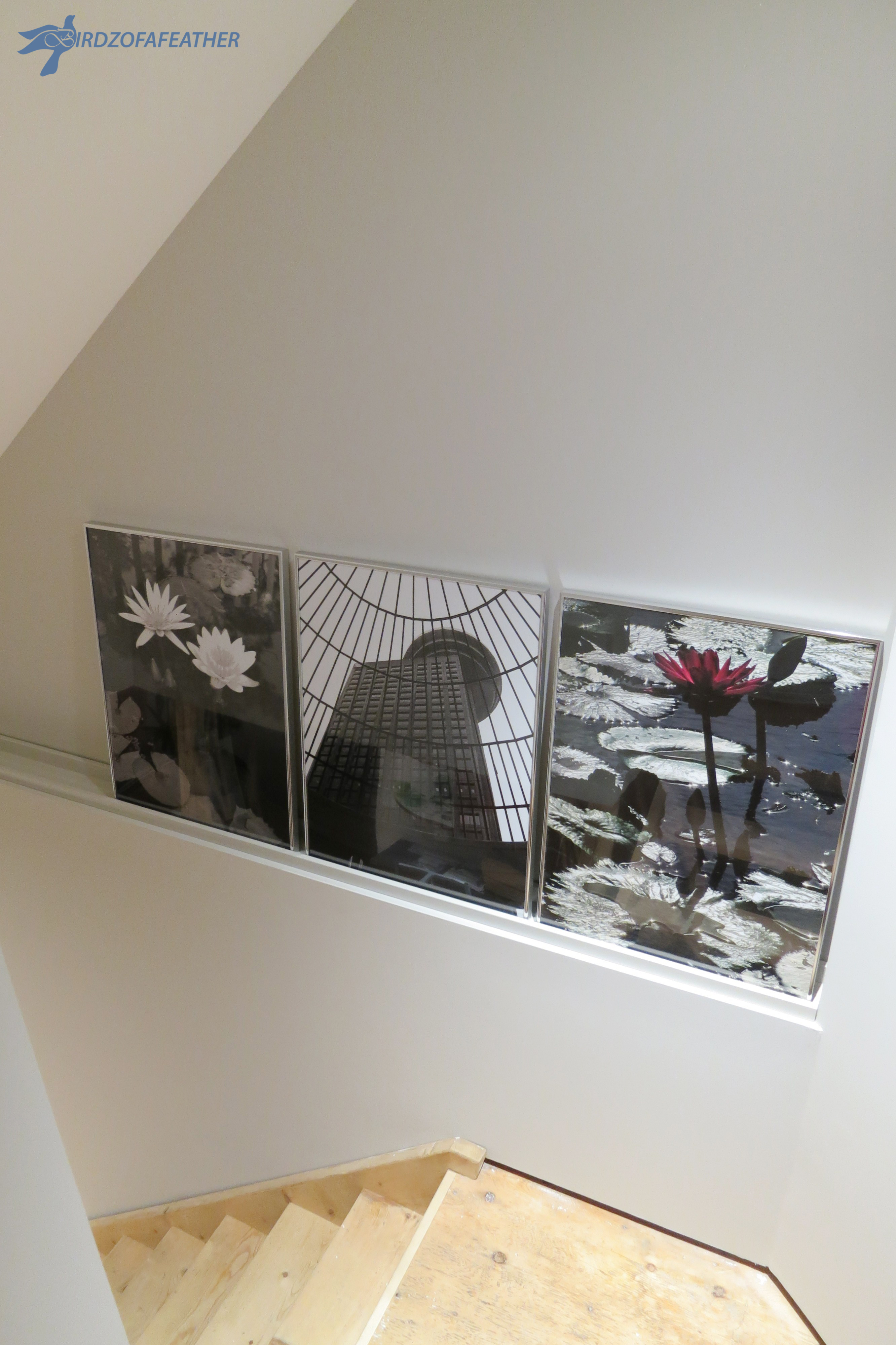 A DIY Gift of Decor: Staircase Niche Picture Ledge