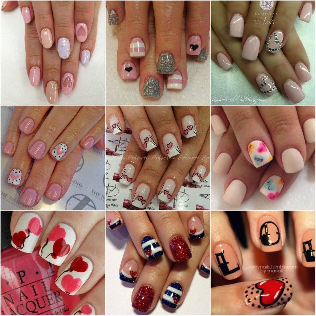Valentine's day nails art