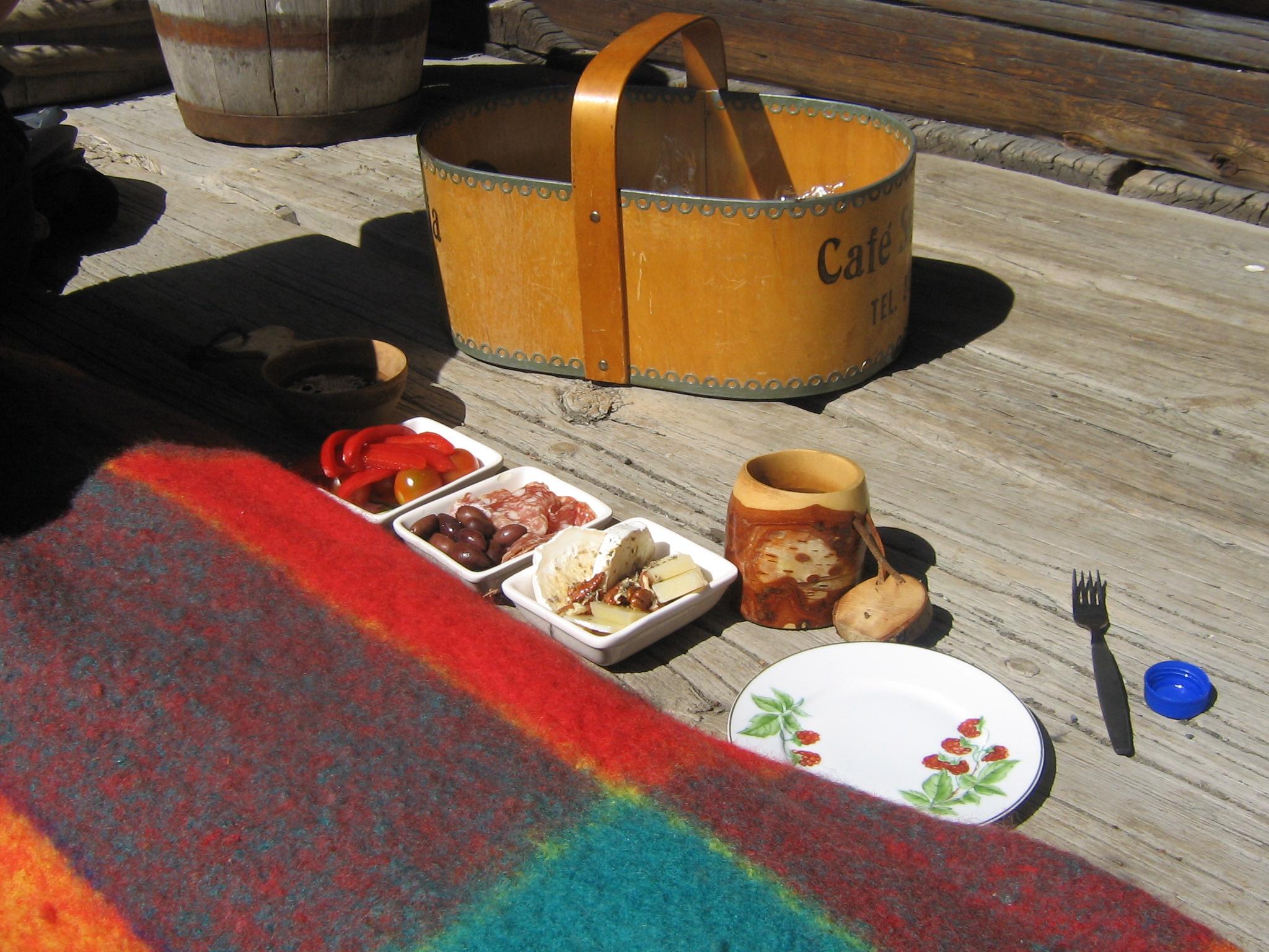 Uppdukat för Picknick