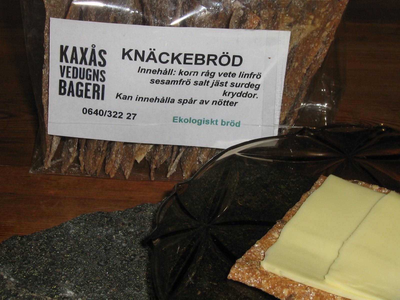 Mycket gott Knäckebröd från Kaxås Vedugnsbageri