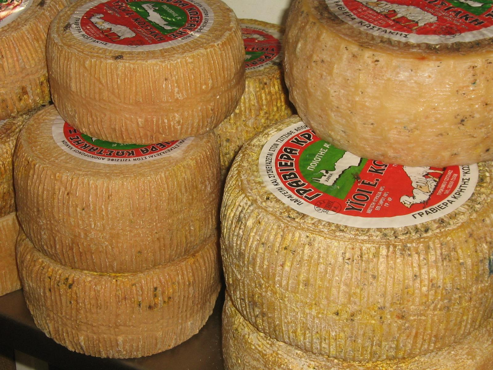 Graviera, smakrik ost från Kreta