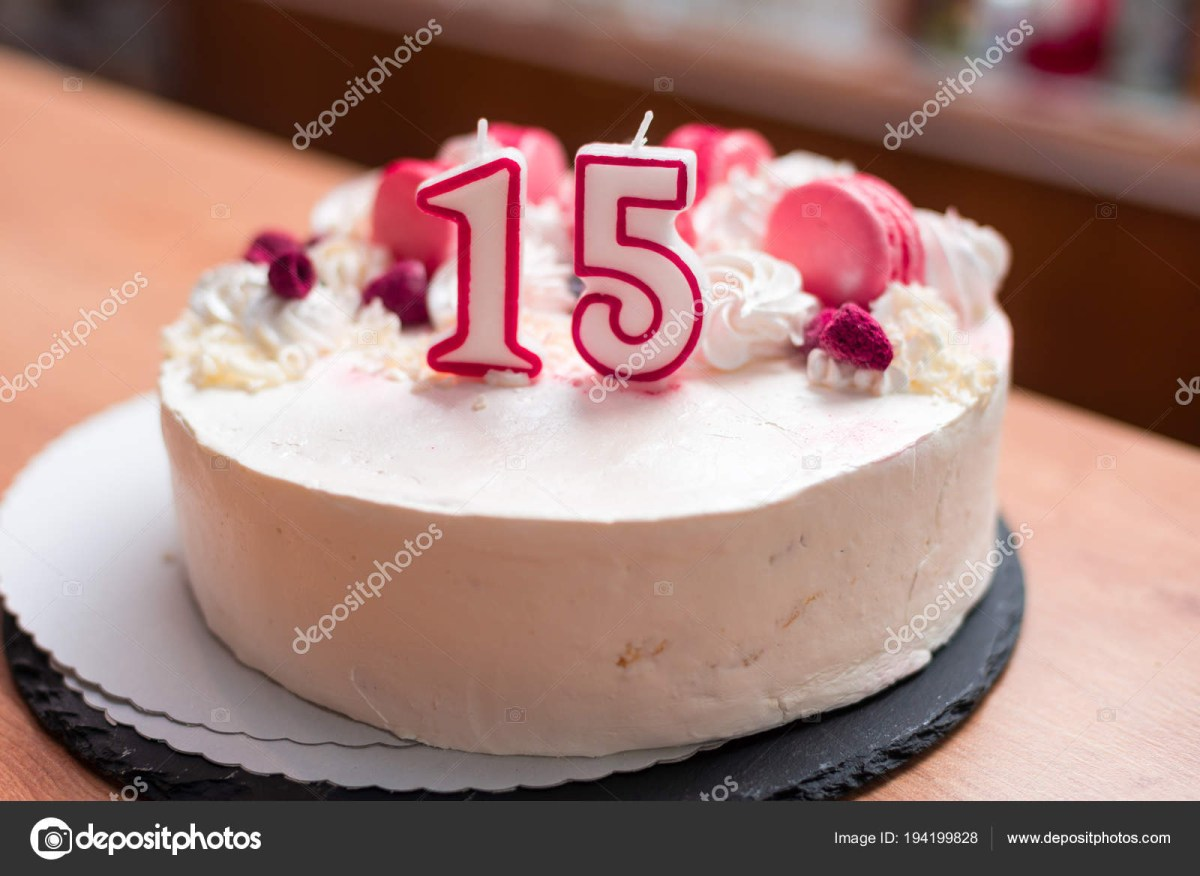 Stupendous 15 Birthday Cake Birthday Cake For 15 Years Old Girl Stock Photo Funny Birthday Cards Online Inifofree Goldxyz