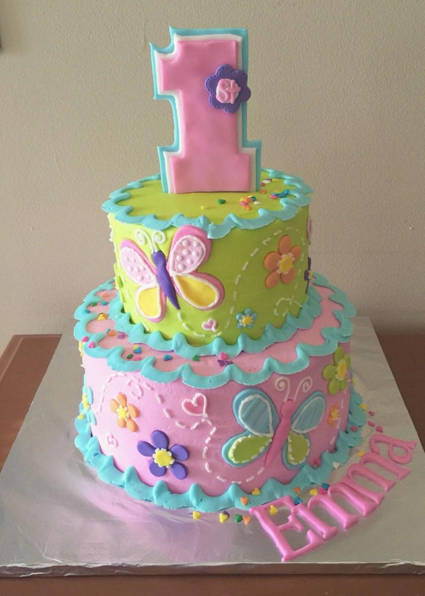 Fabulous 1St Birthday Girl Cakes 1St Birthday Cake For A Girl My Own Cakes Funny Birthday Cards Online Elaedamsfinfo