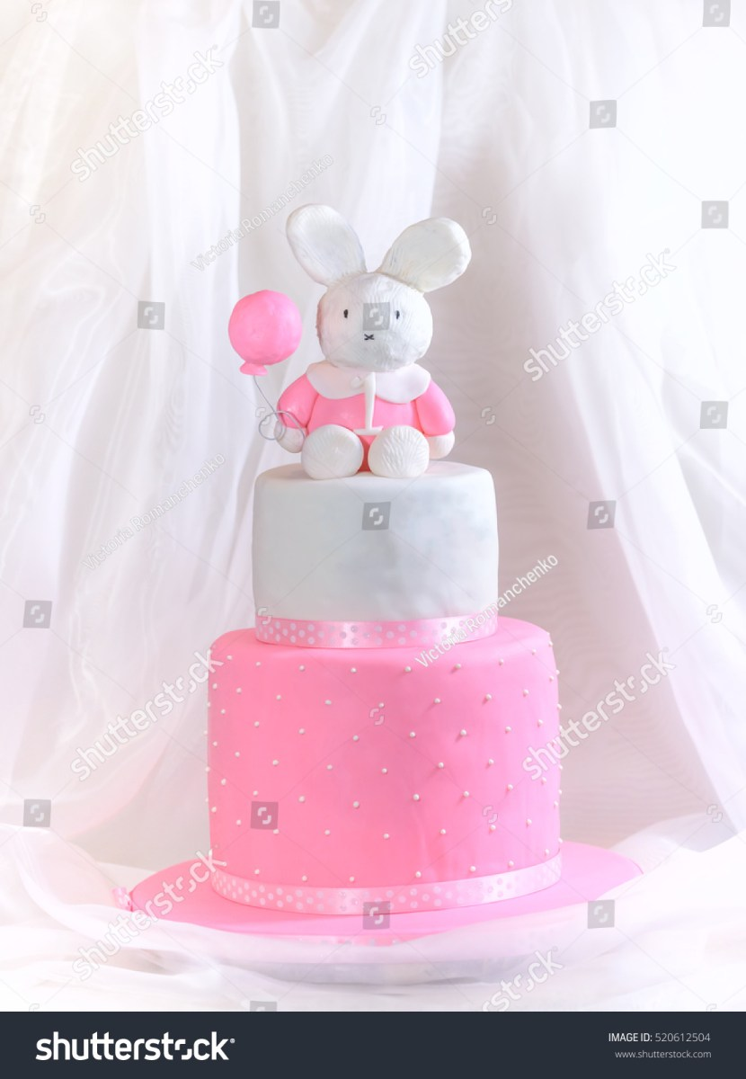 Remarkable 1St Birthday Girl Cakes Ba Girl Cake First Birthday Rabbit Stock Funny Birthday Cards Online Alyptdamsfinfo