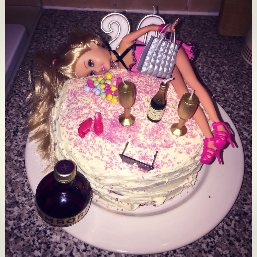 Astonishing 20Th Birthday Cake Ideas Tipsy Barbie 20Th Birthday Cake Birthday Personalised Birthday Cards Veneteletsinfo