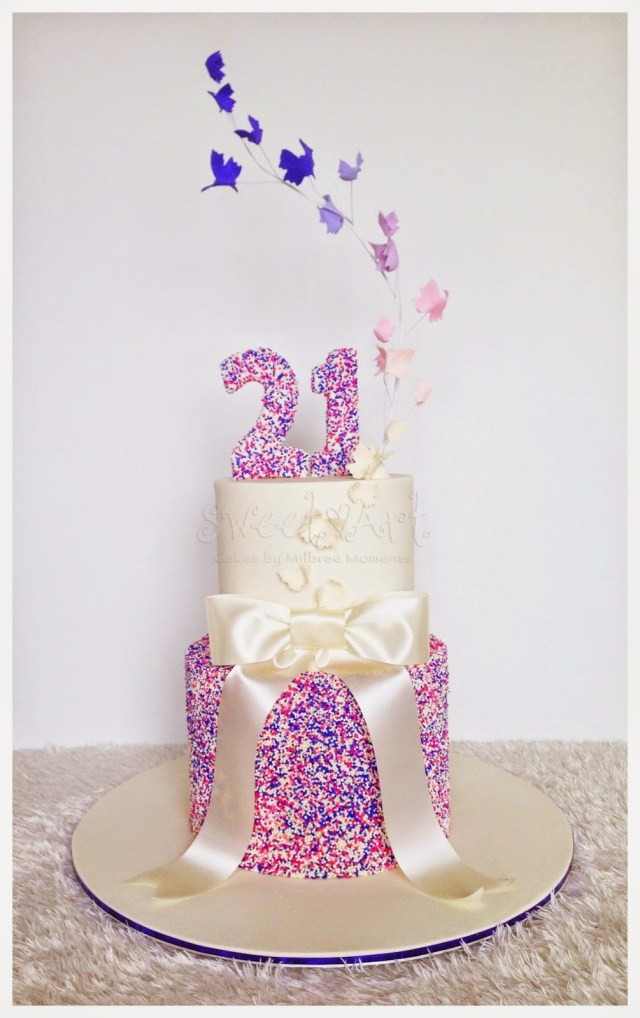 21St Birthday Cakes For Her Sweet Art Cakes Milbre Moments