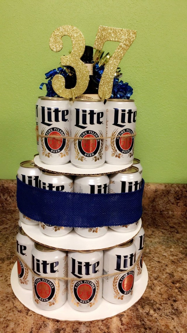 21St Birthday Cakes For Him Beer Cake Miller Lite 37th Birthday I Made This Cake For My