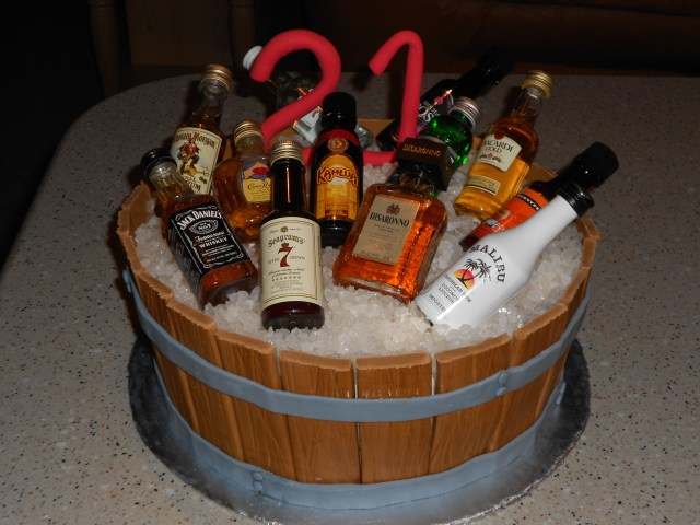 21St Birthday Cakes For Him Instead Of The Alcohol Bouquet For The Morning Of The Wedding This