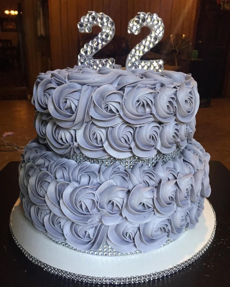 Wondrous 22Nd Birthday Cake 22Nd Birthday Bling Cake My Cakes Pinterest Funny Birthday Cards Online Overcheapnameinfo