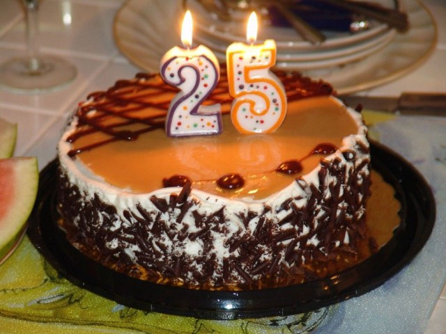 25Th Birthday Cakes 25th Birthday Cake Images Happy Birthday Cake Images The