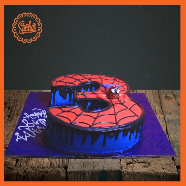 3Rd Birthday Cake 3rd Birthday Shaping Cake With Spider Man Theme Delivery All Over