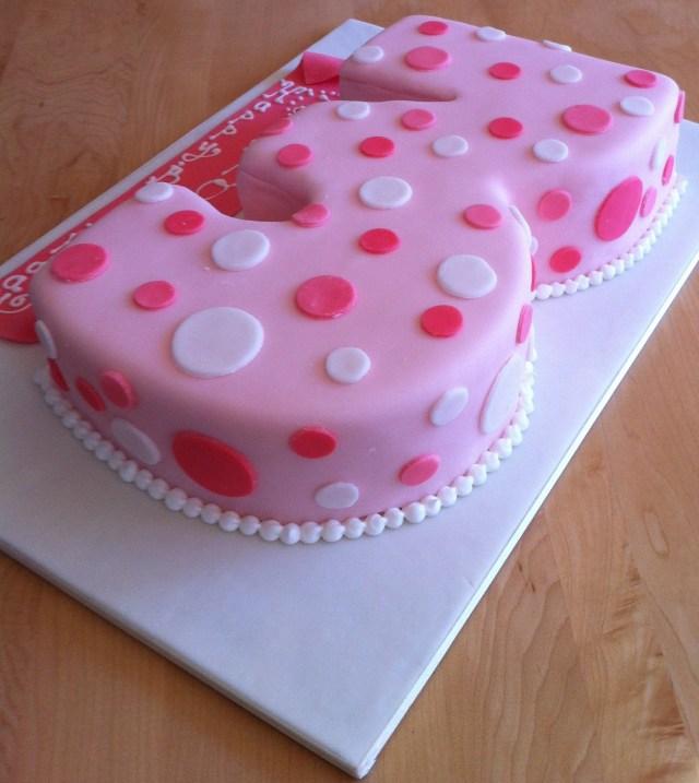 3Rd Birthday Cake Girl 3rd Birthday Cake My City Cake