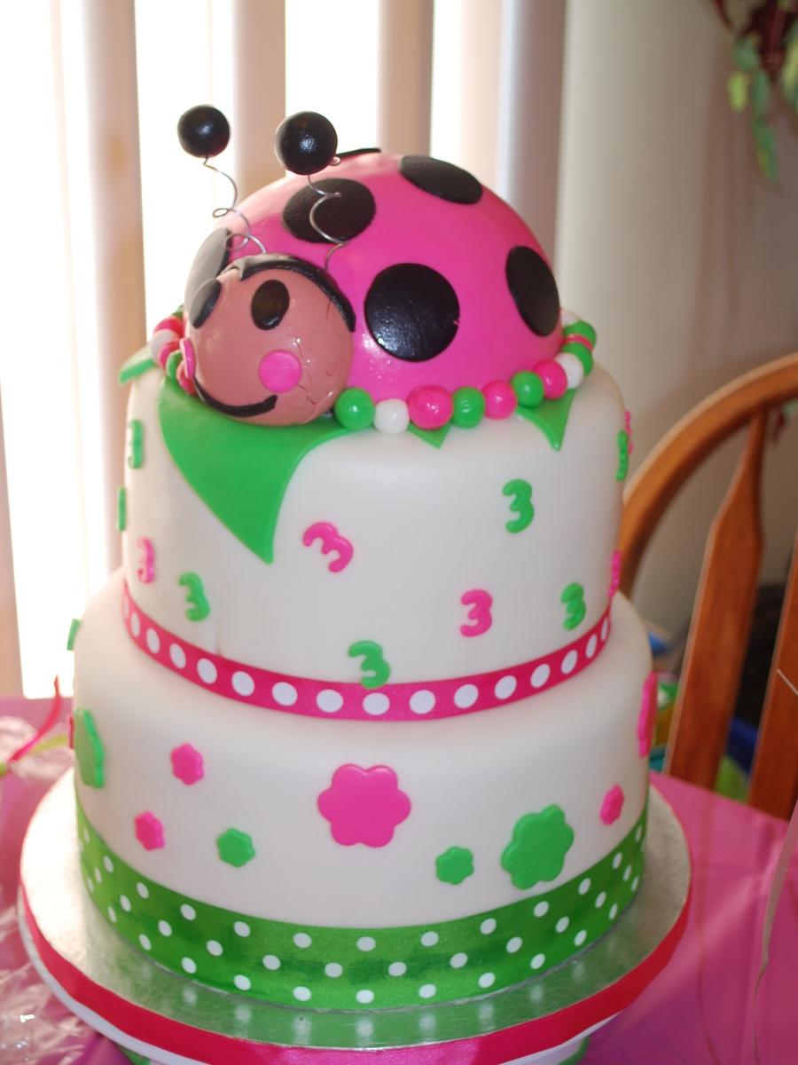 Excellent 3Rd Birthday Cake Ladybug 3Rd Birthday Cake Cakecentral Birijus Com Funny Birthday Cards Online Elaedamsfinfo