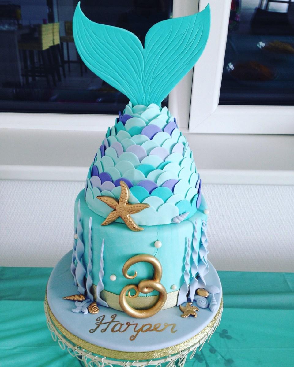 Surprising 3Rd Birthday Cake Mermaid Birthday Cake I Made For My Daughters Funny Birthday Cards Online Alyptdamsfinfo