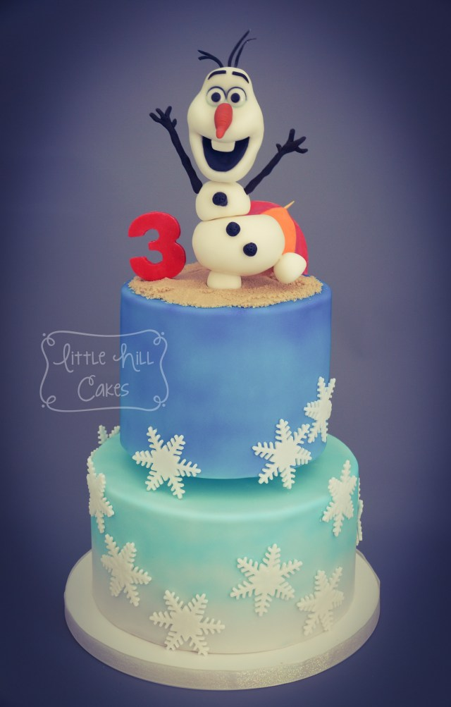 3Rd Birthday Cake Olaf In Summer 3rd Birthday Cake Little Hill Cakes