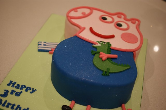 3Rd Birthday Cake Peppa Pig George The Dragon 3rd Birthday Cake Bakealous