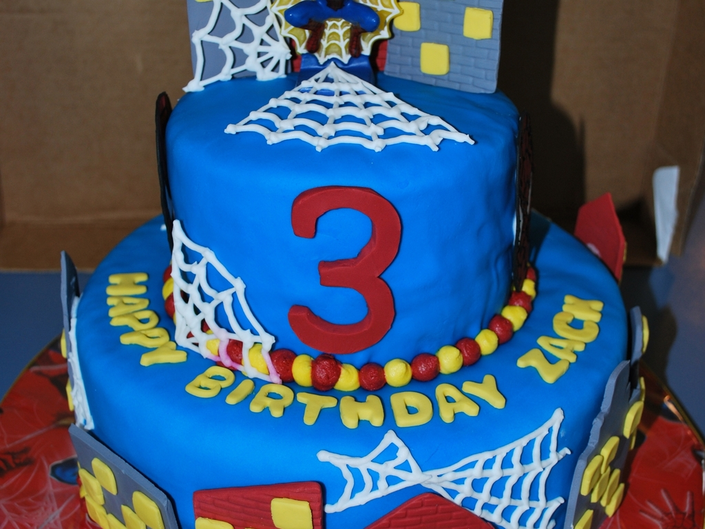 Groovy 3Rd Birthday Cake Spiderman 3Rd Birthday Cake Cakecentral Personalised Birthday Cards Paralily Jamesorg