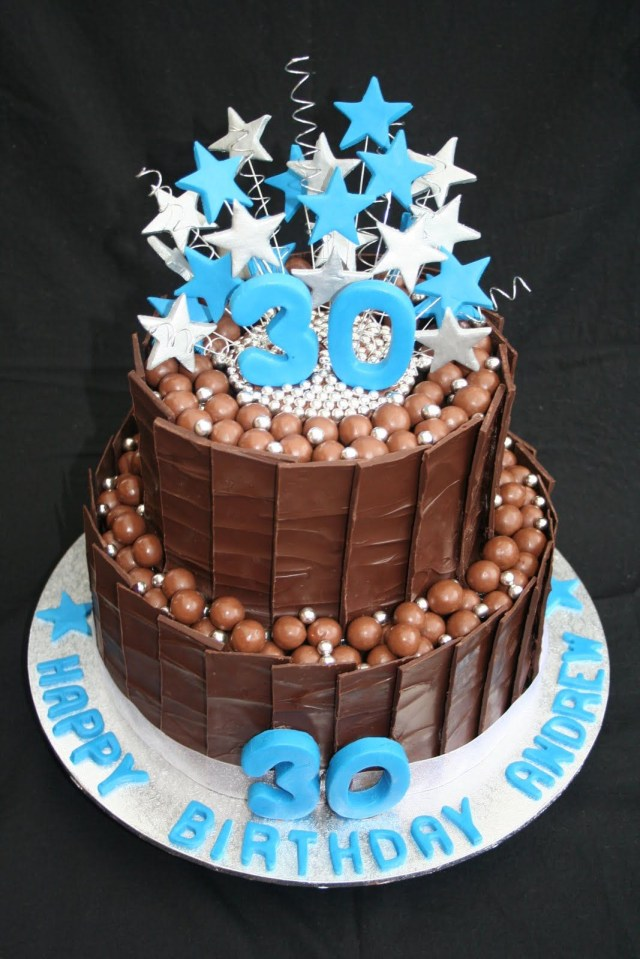 40Th Birthday Cake Ideas For Him 30th Cakes Leonies And Parties