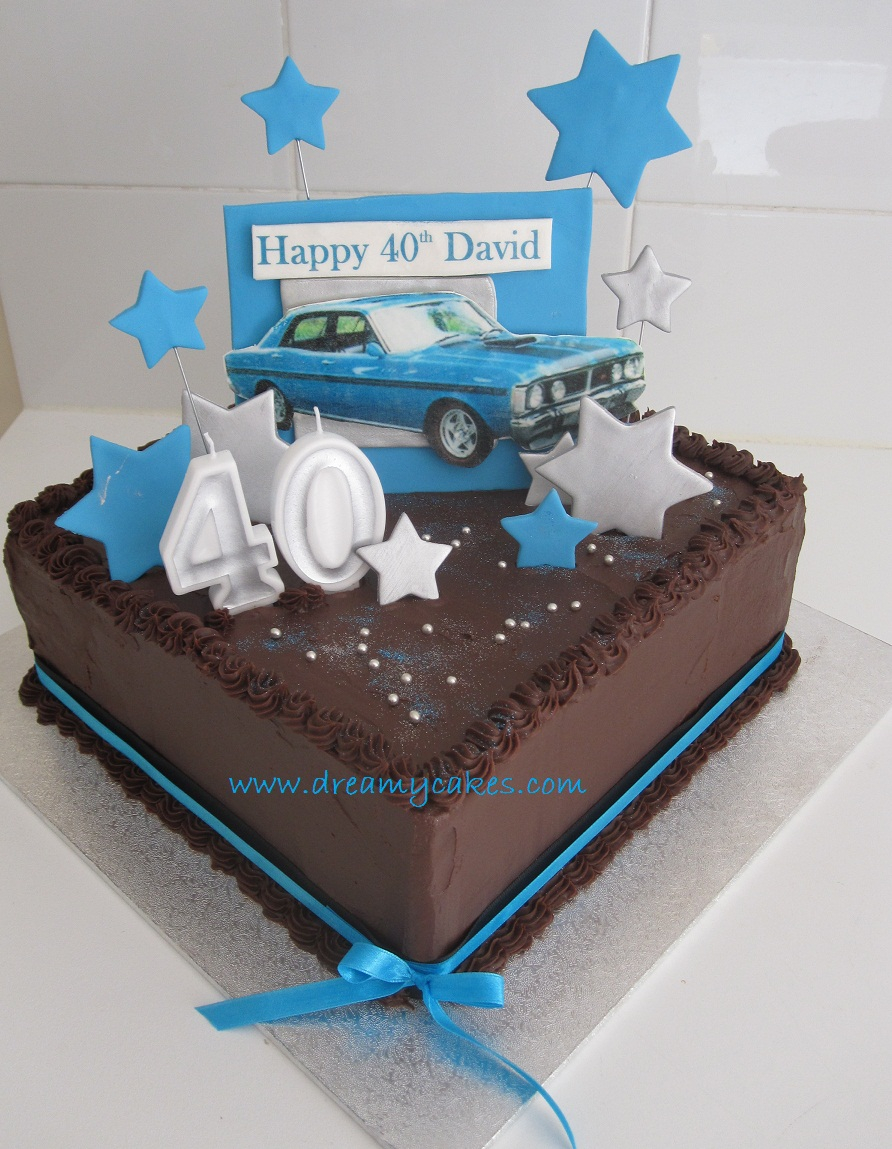 Swell 40Th Birthday Cakes 40Th Birthday Cake Dream Car Cake Birijus Com Funny Birthday Cards Online Inifofree Goldxyz