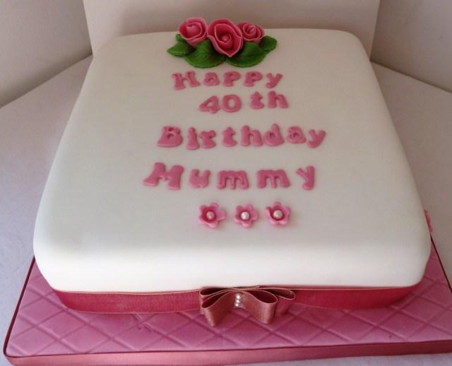 40Th Birthday Cakes 40th Birthday Cake Wedding Birthday Cakes From Maureens Kitchen