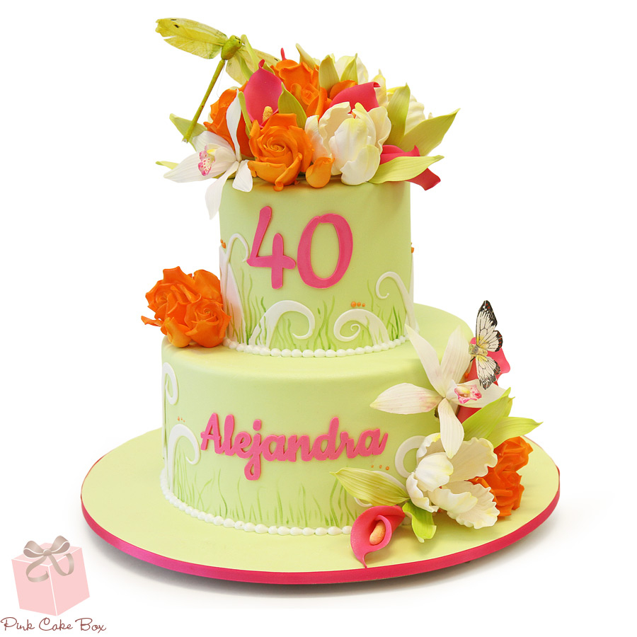 Fantastic 40Th Birthday Cakes Whimsical 40Th Birthday Cake Birijus Com Funny Birthday Cards Online Alyptdamsfinfo