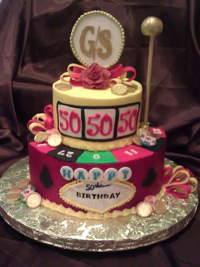 50 Birthday Cakes Casino 50th Birthday Cake Cakecentral