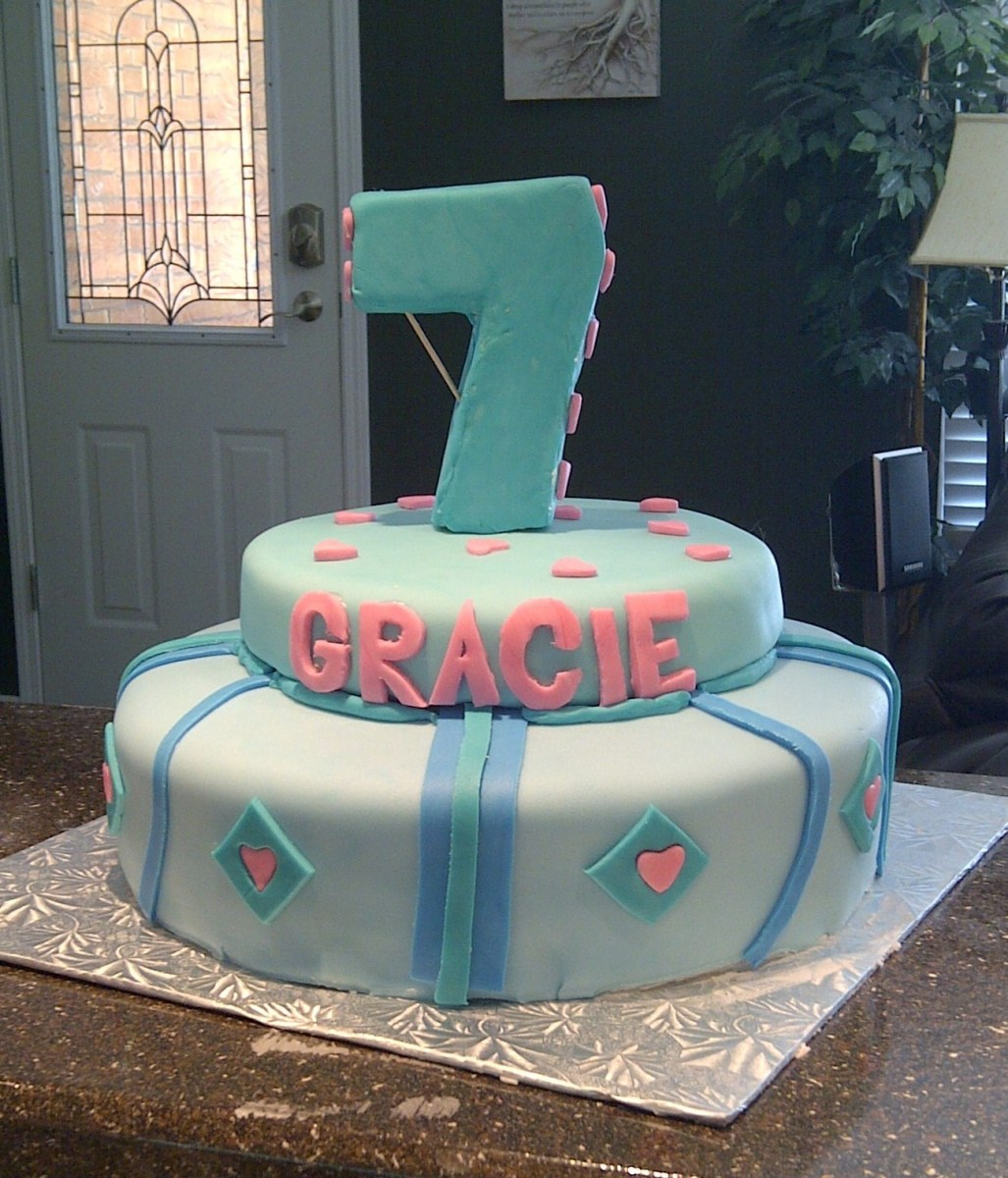 Fantastic 7 Year Old Birthday Cake 12 Seven Year Old Birthday Cakes For Funny Birthday Cards Online Alyptdamsfinfo