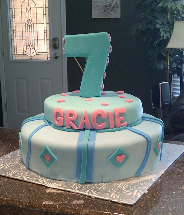 7 Year Old Birthday Cake 12 Seven Cakes For Girls Photo