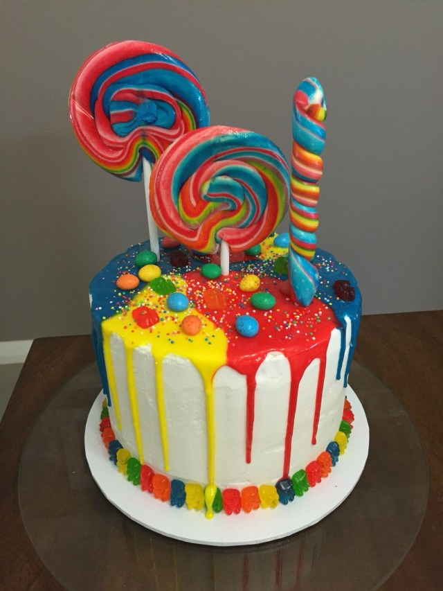 7 Year Old Birthday Cake Lolly Cake For My 7 Year Old Niece Happy Birthday Allegra