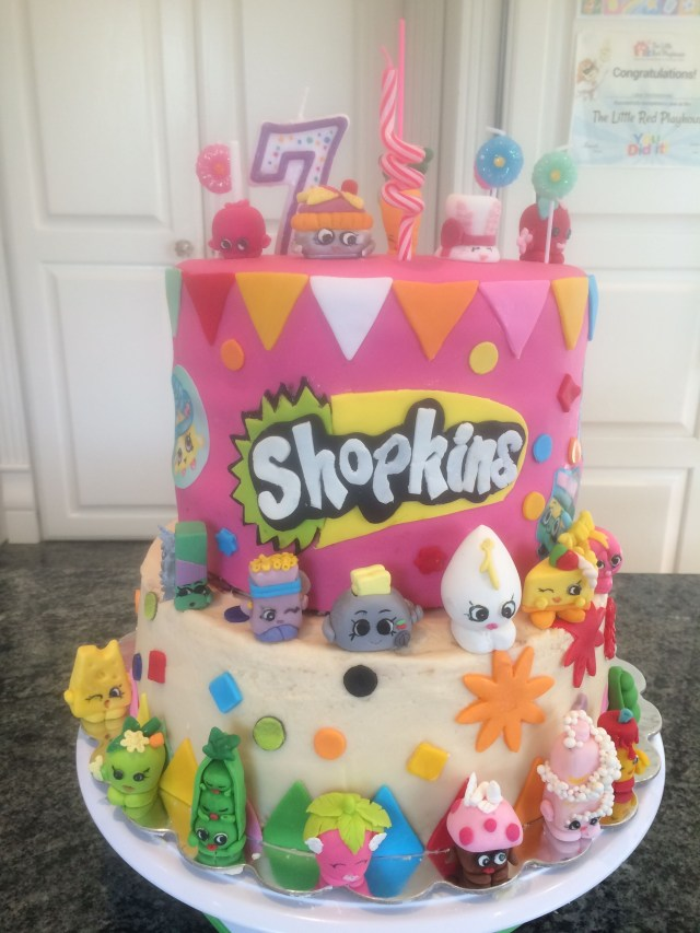 7 Year Old Birthday Cake Shopkins Bday Cake Craft My 7 Yr Old Loved Helping Me With This