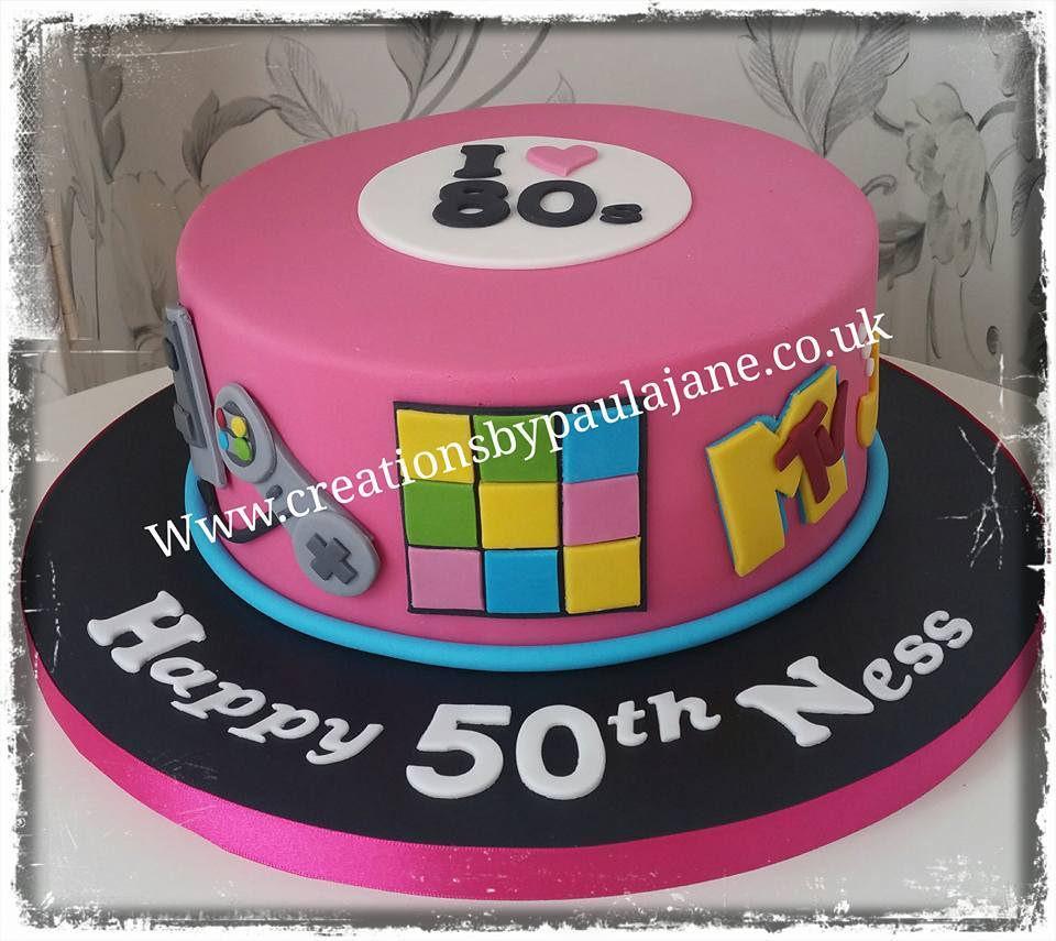 80S Birthday Cake 80s Themed Paula Town Flickr
