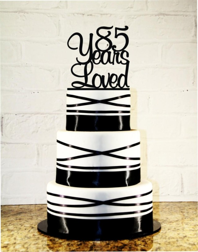 85Th Birthday Cake 85th Birthday Cake Topper 85 Years Loved Custom 85th Anniversary