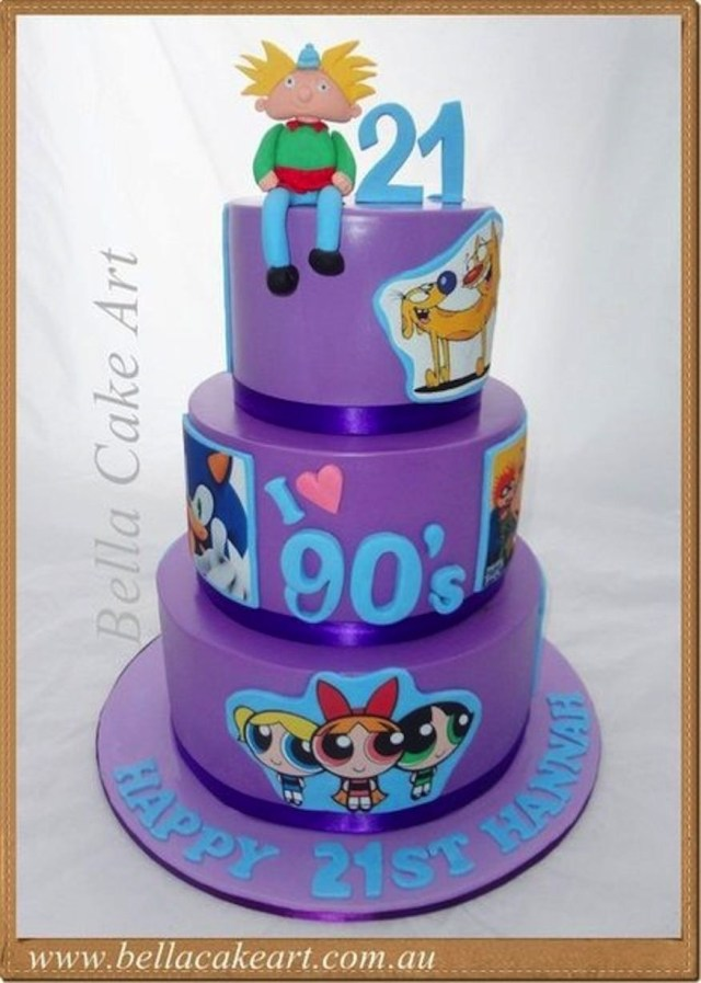 90S Birthday Cake 50 Awesome 90s Themed Cakes And Cupcakes In 2018 30th Bday