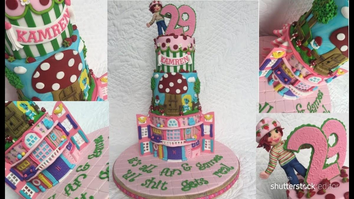 Amazing 90S Birthday Cake Watch Me Make A 90S Kid Birthday Cake Youtube Personalised Birthday Cards Sponlily Jamesorg